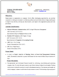 Mesmerizing Resume Format For Experienced Mba Finance 79 For Your How To  Make A Resume With