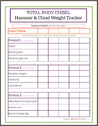 Workout Worksheet Worksheets For All | Download And Share Worksheets ...