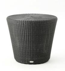 white outdoor side table. Kingston Outdoor Side Table/Stool Graphite White Table