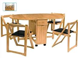 decoration brilliant folding dining table with chairs room furniture in wooden padded