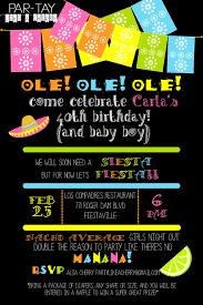 Alia Designs Invitations 002 Fiesta Invitations Templates Free Template Singular