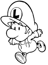 Kleurplaat Baby Luigi Is Aan Het Rennen Kleurplaatjecom