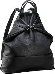 jost copenhagen 2065 black leather backpack