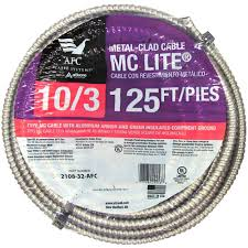 afc cable systems 10 3 x 125 ft solid mc lite cable