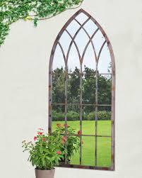 garden mirrors. Cathedral Windowpane Style Garden Mirror Mirrors