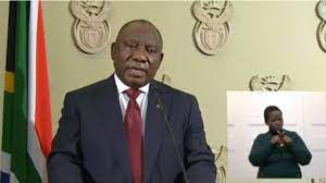 President cyril ramaphosa will address the nation at 19h00 today, sunday 30 may 2021, in relation to the country's response to the coronavirus pandemic. Cyril Ramaphosa Address South Africa President Order Military Deployment To End Violence Looting Bbc News Pidgin