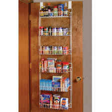 details about over the door storage rack kitchen pantry shelf organizer e space saver