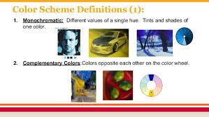 Color Scheme Definitions ...
