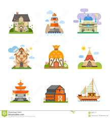 different types of houses world houses stock vector illustration of cute architecture 58837277