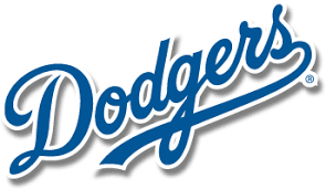 Los Angeles Dodgers Text Logo transparent PNG - StickPNG