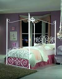 Twin Wood Canopy Bed White Full Size Medium Of Cherry – autophysics.co