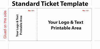 Raffle Ticket Template Publisher Various Types Of Templates