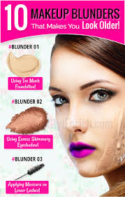 you look older makeup mistakes