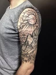 tattoo sleeve designs clouds. Exellent Clouds A Badass View For An Impressive Half Sleeve Tattoo Design For Designs Clouds V