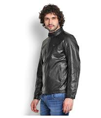 kar black leather jacket kar black leather jacket at best s in india on snapdeal