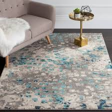 amazing gray and turquoise rug bungalow rose crosier grey light blue turquoise and gray area rug prepare