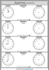 Quarter Hour Time Conversion Chart Elapsed Time Worksheets And Activities Easyteaching Net