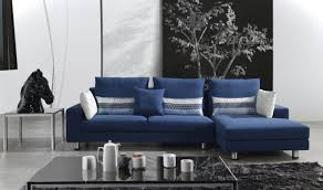 Living Room Black Sofa Be Inspired By A Living Room Anchored By A Bold Blue Sofa Living