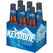 Keystone Light Bottles Sold Where Keystone Light Lager Beer 6 Pack 12 Fl Oz Bottles 4 1