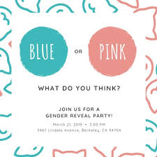 Gender Reveal Invitation Templates Customize 26 Gender Reveal Invitations Templates Online Canva