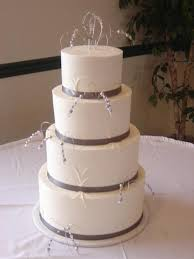 simple round wedding cake. Delighful Cake 4 Tier Round Wedding Cake With Dark Gray Ribbon And Sprays Of Beads Coming  Off And Simple Round Wedding Cake C