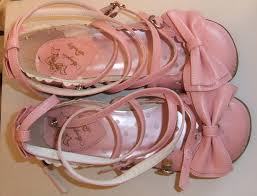 angelic pretty pink s 6 5 us tea party shoes used