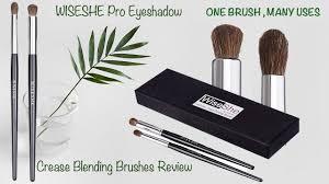 wiseshe pro eyeshadow crease blending brushes review affordable eye makeup brushes in india