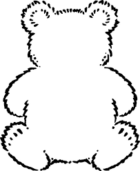 Small Picture outline of teddy bear Google Search Preschool Bears
