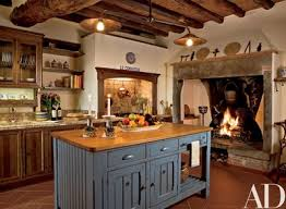 Rustic kitchens designs Farmhouse In An Italian Fortress Turned Residence Designer Susan Schuyler Smith Installed The Center Island And Cabinetry In The Kitchen Architectural Digest 29 Rustic Kitchen Ideas Youll Want To Copy Architectural Digest