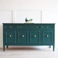benjamin moore furniture paintSideboard painted in Hunter Green by Benjamin Moore  interior