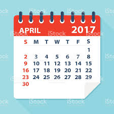 april calendar april 2017 calendar illustration stock vector art 592659594 istock