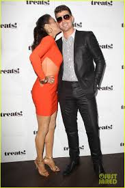 paula patton and robin thicke 16. Paula Patton Kisses Robin Thicke At His Album Release Party Throughout And 16