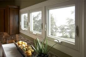 kitchen counter window. Three Awning Windows Above Kitchen Counter Window