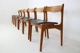 scandinavian dining chairs luxury set of 6 danish teak dining chairs by erik buch for o d