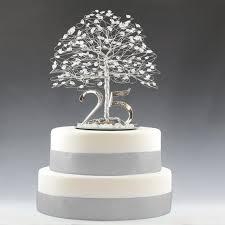 25th Anniversary Cake Topper Gift Decoration Birthday Idea Tree In