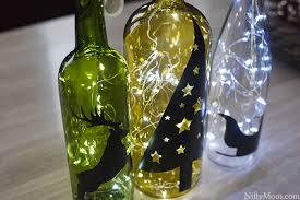 Decorative Wine Bottles With Lights DIY Wine Bottle Holiday Decor 63