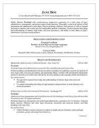 ... Sample Entry Level Paralegal Resume with ucwords] ...