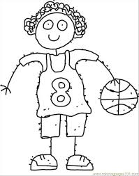 87 Ll Girl Cartoon Coloring Page Coloring Page Free Basketball