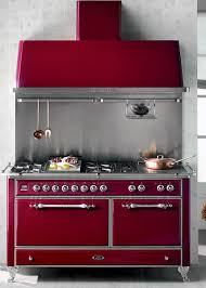 red vintage kitchen stove for modern kitchens designs in retro styles