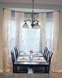 Panel Curtain Luxury White Bay Window S Window Treatments With - Bay window in dining room