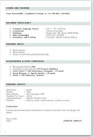 Ms Word Resume Format Professional Ms Word Resume Template Example