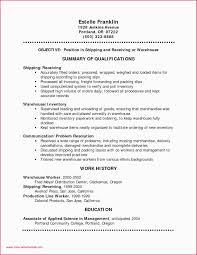 Warehouse Worker Resume New Warehouse Worker Resume Skills Freight Shipping Quote Inspirational