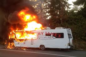 a 1986 winnebago owned by vancouver based mary jane s house of glass fire sunday