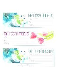 Print Gift Certificate Free Vouchers Online Glotro Co