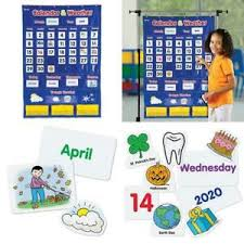 Calendar Pocket Chart Set Details About Learning Resources Calendar Weather Pocket Chart Classroom Organization 136