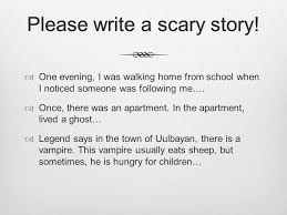 grammar iuml ing adjectives ending in ing are used to describe please write a scary story please write a scary story