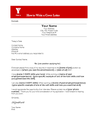 Cover Letter Name Sample Writing A Cover Letter Tips And Examples