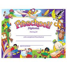 Preschool Border Preschool Diploma With Nursery Rhymes Border