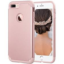 iphone 7 plus rose gold. iphone 7 plus case, ulak slim hybrid heavy duty dual layer protection iphone rose gold