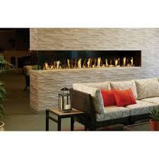 davinci pier 3 sided fireplace stacked stone surround
